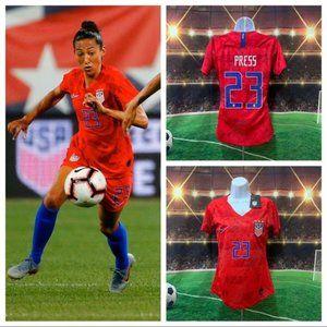 Press %2323 USA Womens Soccer Jersey World Cup